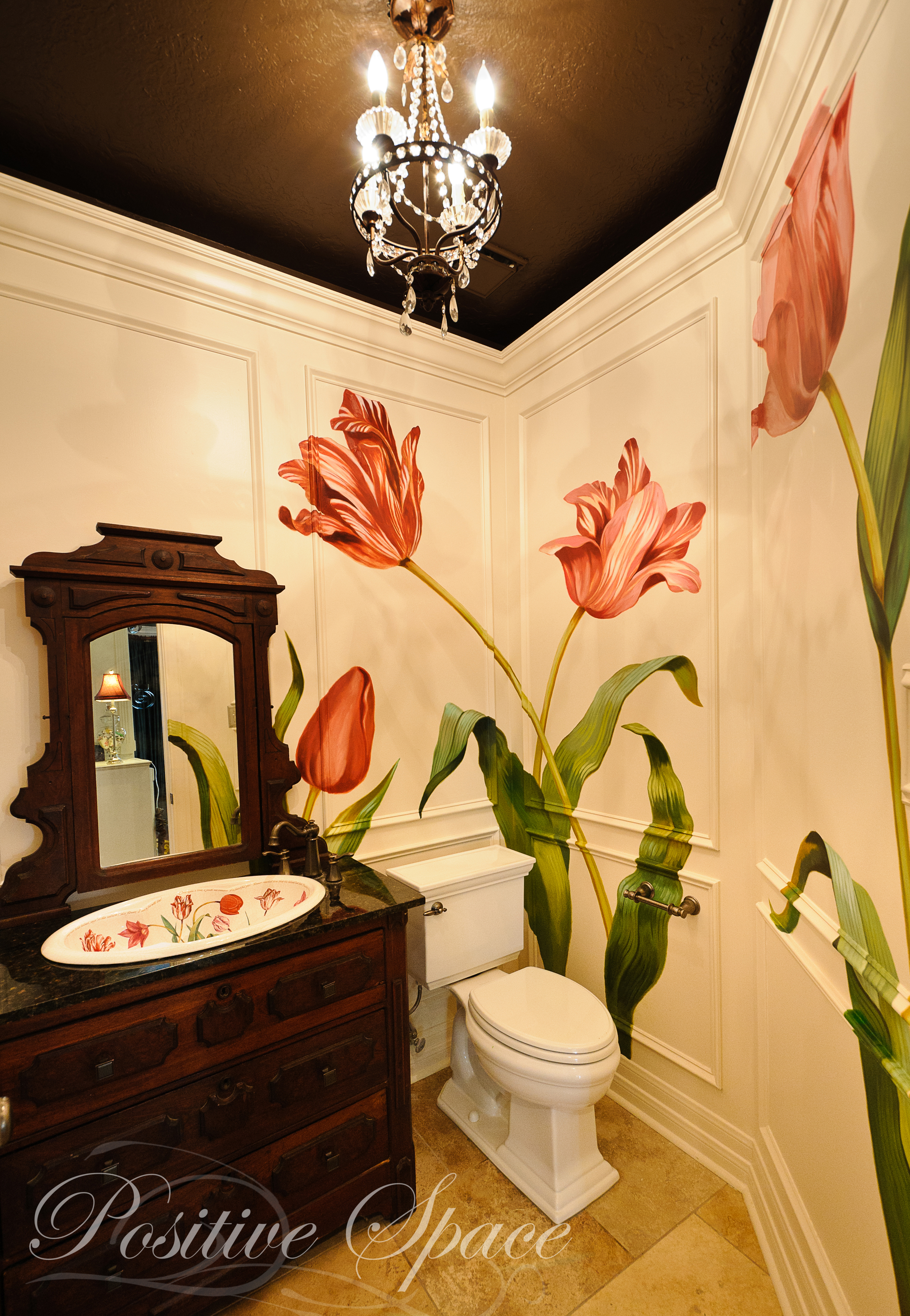 A Powder Room With a Touch of Whimsy – Positive Space